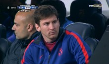 Lionel Messi Isn't Used to Sitting on the Bench, May Need Refresher on What Is and Is Not Appropriate Behavior (GIF)