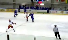 Lithuanian Under-18 Hockey Player Hurls His Stick at a Referee (Video)