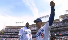 Sandy Koufax Throws Out Opening Pitch at Dodger Stadium…In Relief of Magic Johnson (Video)