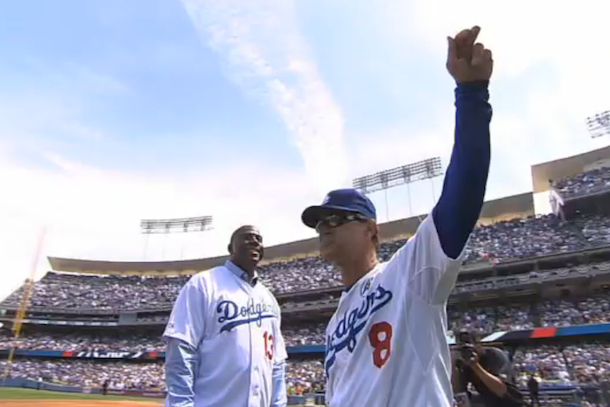 magic gets the hook from mattingly (dodgers opening day)