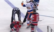 Islanders' Matt Martin Knocked the Devils' Tom Kostopoulos Out Cold (Video)