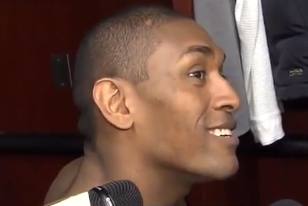 metta world peace (ron artest) too sexy for my cat postgame interview