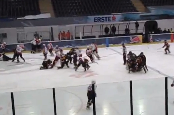 minor hockey brawl in austria