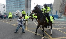 Newcastle United Hooligan Punches Police Horse in the Face (Videos)