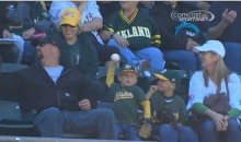 How Cute!: Young A's Fan Throws Back His Souvenir Baseball (Video)