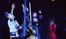 Parenting Fail: Mom Drops Kid to Catch Hockey Stick at Kings Game (Video)