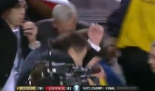 Rick Pitino was Startled by Fireworks Following Louisville's National Championship Victory (Video)