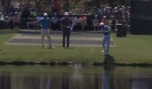 Watch Rickie Fowler Skip a Ball Across the Water and Onto the 16th Green at Augusta National (Video)