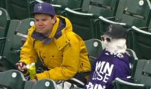 Rockies Fan Builds Snowman to Keep Him Company During a Cold Double Header at Coors Field (Video)