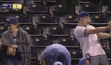 Royals Fan Flips the Double Bird (GIF)