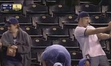 Royals Fan Flips the Double Bird (GIF)