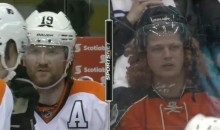 Scott Hartnell Doppelganger Takes In the Leafs-Flyers Game in Toronto (Video)