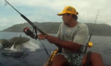 Kayak Fisherman Has Insanely Close Call with 9-Foot Shark (Video)
