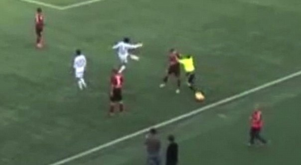soccer linesman attacks player banned for life