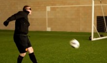Former and Current Manchester United Players Play Soccer Blindfolded (Video)