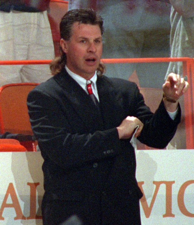 14 barry melrose kings coach - classic hockey hair