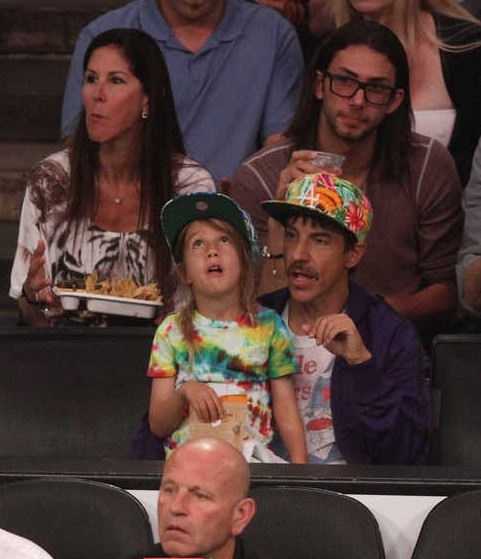16 anthony kiedis lakers spurs game 4 - celebrities at 2013 nba playoffs