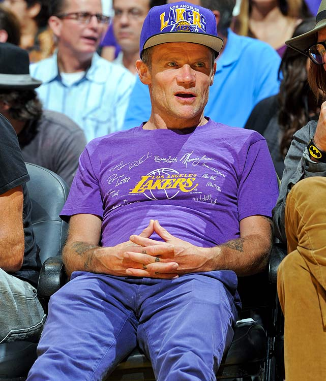 17 flea lakers spurs game 4 - celebrities at 2013 nba playoffs