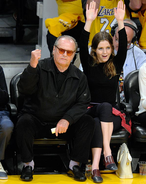 18 jack nicholson & daughter lorraine lakers spurs game 3 - celebrities at 2013 nba playoffs