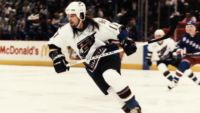 23 chris simon capitals - classic hockey hair