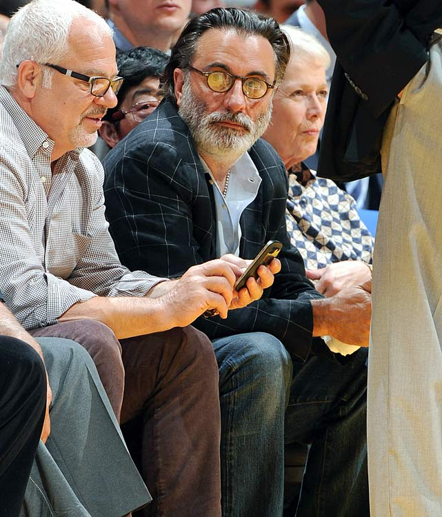 24 andy garcia lakers spurs game 4 - celebrities at 2013 nba playoffs