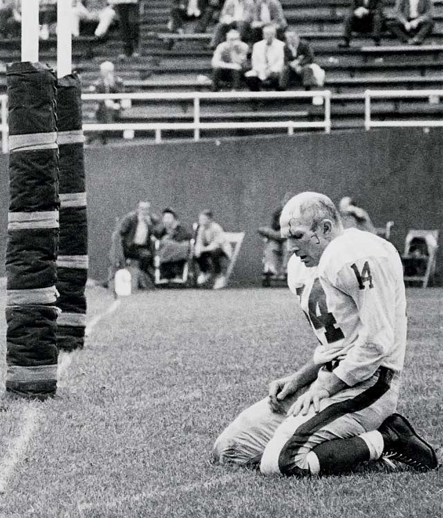 6 Y.A. Tittle - cracked sternum