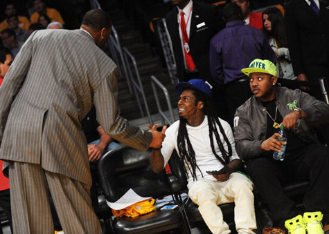 7 lil wayne lakers spurs game 4 - celebrities at 2013 nba playoffs