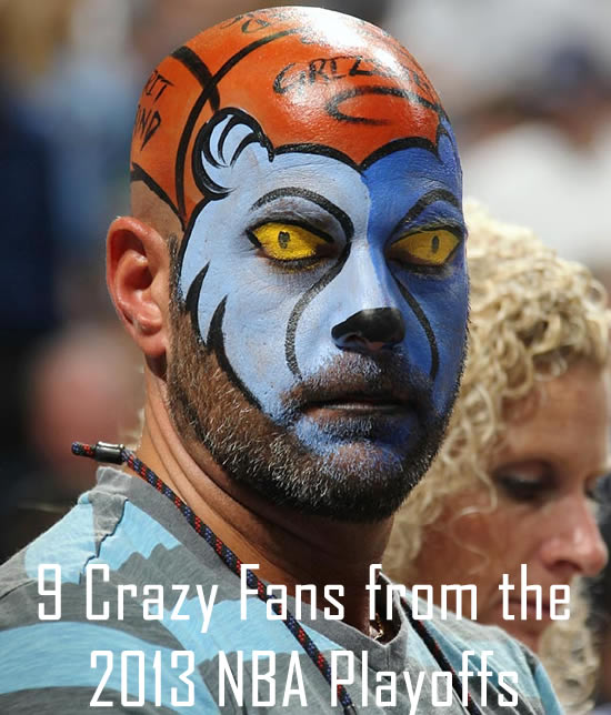 9 Crazy Fans from the 2013 NBA Playoffs | Total Pro Sports
