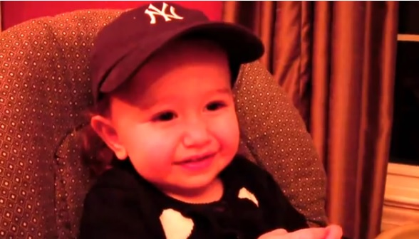 Baby Recites Yankees Names and Numbers