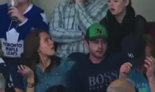James Reimer's Wife and Elisha Cuthbert Death Stare After Leafs Loss… Or was it? (Video)