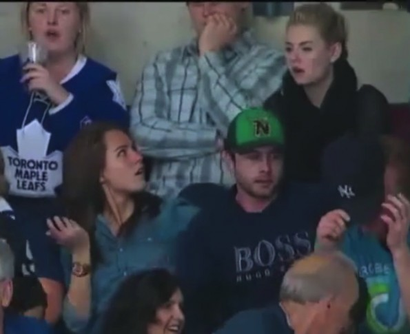 James Reimers Wife And Elisha Cuthbert Death Stare After Leafs Loss