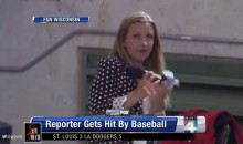 Brewers Sideline Reporter Sophia Minnaert Gets Hit by Ball, Carries on Like a Boss (Photo)