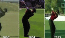 The Evolution of Tiger Woods' Golf Swing in One GIF