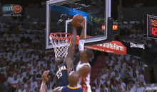 Heat Win, But Bosh Gets Owned by Roy Hibbert (Video + GIF)