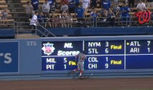 Bryce Harper Injures Himself Running Face First Into the Outfield Wall (Video)