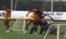 Didier Drogba Almost Has His Leg Broken By Crazy Galatasaray Fan (Video)