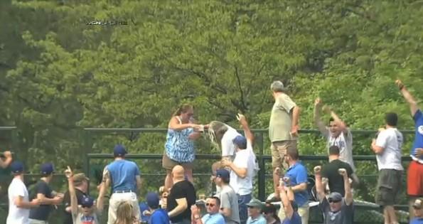 cubs fan beer shower
