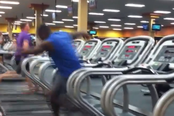dancing treadmill guy
