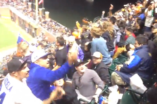 dodgers giants fan brawl