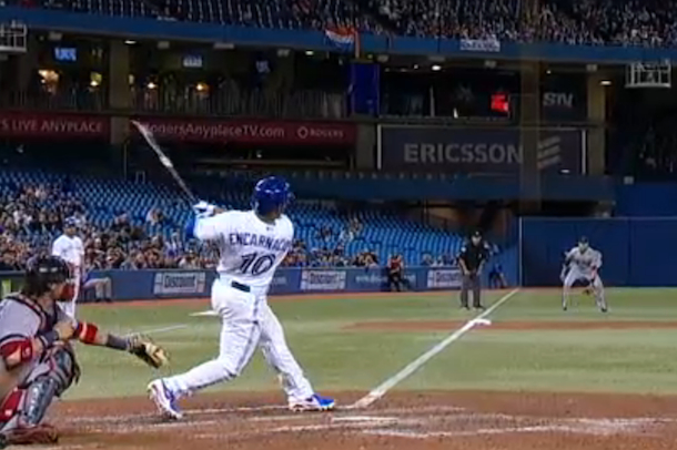 Edwin encarnacion became just the 14th player to hit a Home run architecture