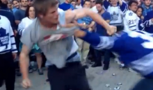Smart Toronto Hockey Fans Fight Outside Arena Before the Game So They Don't Get Kicked Out (Video)