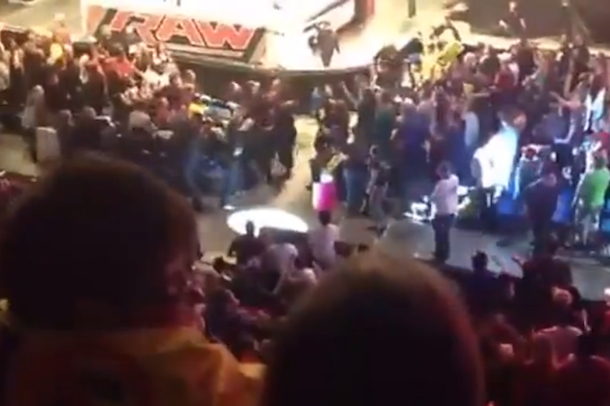 fight at monday night raw in calgary