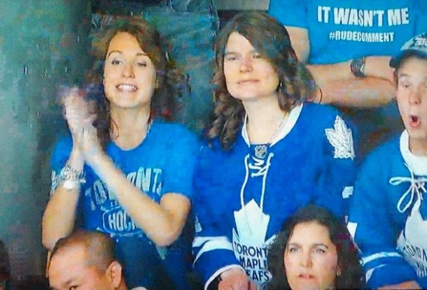 it wasn't me #rudecomment leafs reimer wife elisha cuthbert