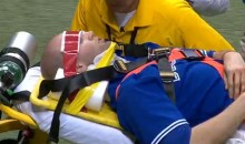 Blue Jays Pitcher J.A. Happ Stretchered Off After Being Hit in the Head by a Line Drive (Video)