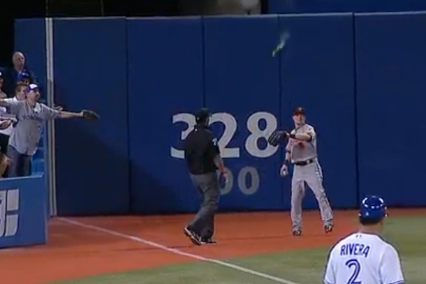 jays fan throws beer at nate mcclouth