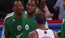 Celtics' Jordan Crawford Trash Talks Carmelo Anthony and His Wife Following Game 5 (GIF)