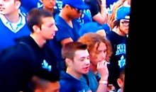 CBC Camera Catches a Leafs Fan Smoking a Joint (Video)