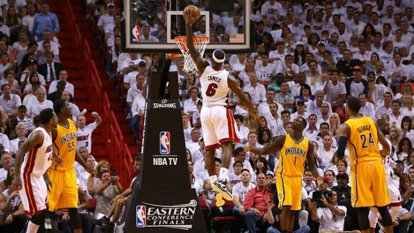 lebron james vs pacers
