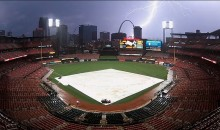 Lightning Strikes Gateway Arch During Rain Delay Between Royals and Cardinals (Video)