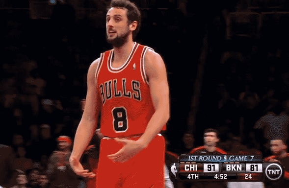 marco belinelli big balls celebration